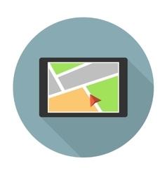 Car navigation device vector image
