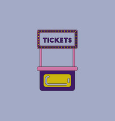 Carnival ticket booth vector