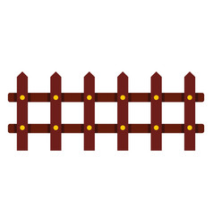 Cartoon flat fence isolated on white background vector