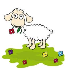 cartoon lamb vector image