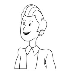 cartoon man business manager people portrait vector image