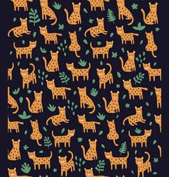 Cheetah in jungles black vector