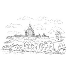 Church of st jan nepomucky vector