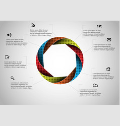 Circle divided to eight parts filled color vector