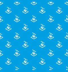 cogwheel d printing pattern seamless blue vector image