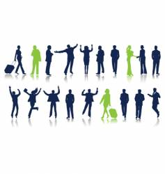 collection of business peoples vector image