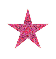 Colorful polygonal tiled mosaic pentagram star vector