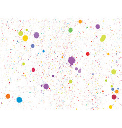 colorful round confetti isolated on white vector image