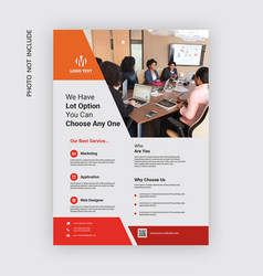 corporate flyer template vector image