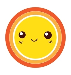 Cute Colorful Sun icon design element vector image