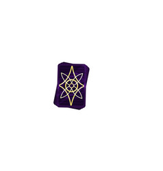 Deck of purple tarot cards with mystical magical vector