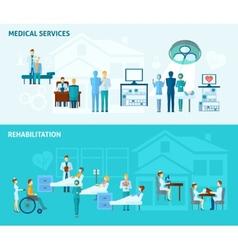 Doctors Banner Set vector image