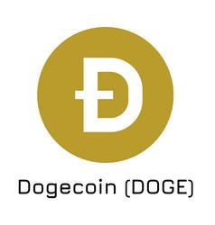 Dogecoin doge crypto coin vector