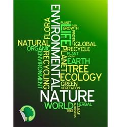 environmental poster vector image