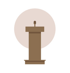 Flat design in icon lectern vector