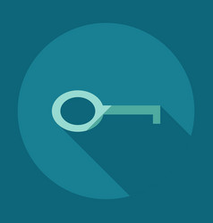 Flat modern design with shadow icons key vector