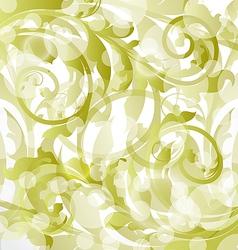 Floral ornamental background design elements vector image