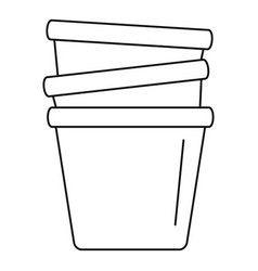 flowerpots icon outline style vector image
