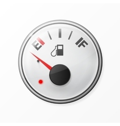 Fuel gauge Empty With chrome frame vector image