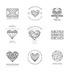 geometric logos vector image