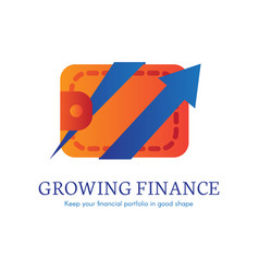 growing finance flat gradient icon vector image
