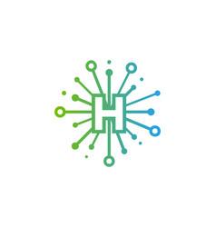 h share letter logo icon design vector image