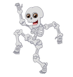 Halloween Skeleton jumping with dance on isolated vector image