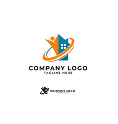 Home solutions logo icon ilustration vector