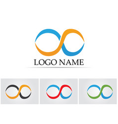 infinity logo and symbol template icons app vector image