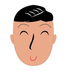 isolated man avatar vector image