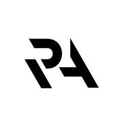 letter r and a cutted join logo simple style vector image