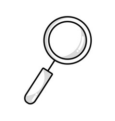 Line magnifying glass tool to explore vector