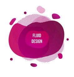 liquid color geometric shapes vector image