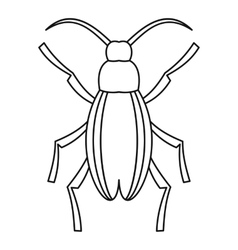 Longhorn beetle grammoptera icon outline style vector