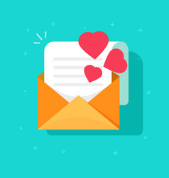 love confession mail or email icon flat vector image