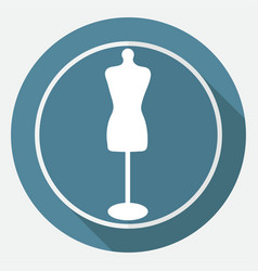 Mannequin icon vector