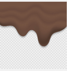 melted chocolate vector image