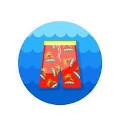Men Beach Shorts icon Summer Vacation vector image