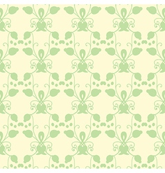 Neutral floral ornament cool green vector