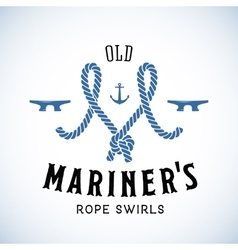 Old Mariner Abstract Retro Logo Template or vector