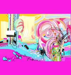 original digital abstract painting vector image