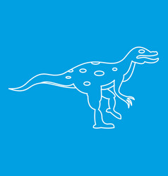 ornithopod icon outline style vector image