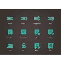 Password icons vector