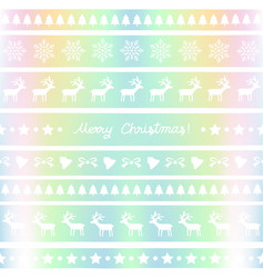 pastel background with christmas pattern vector image