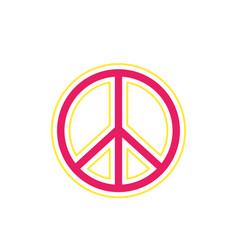 Peace sign on white vector