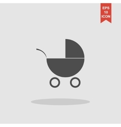 Pram icon Flat design style vector image
