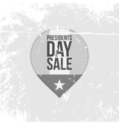 Presidents Day Sale Label with Text vector image