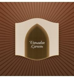 Ramadan Kareem religious Banner vector