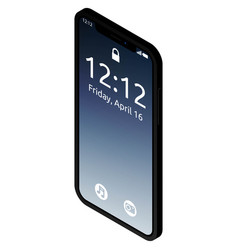 realistic high quality phone concept with notch vector image