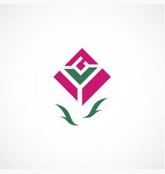 rose symbol vector image